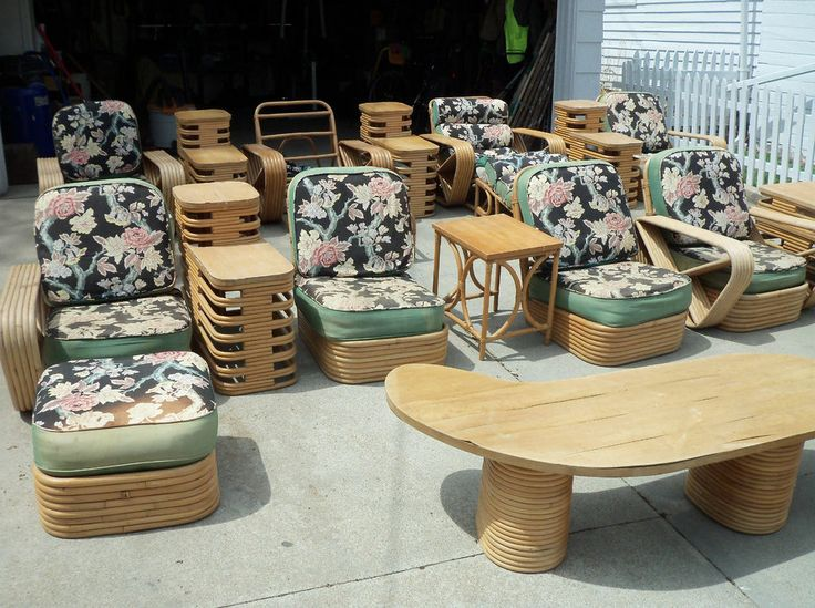 Vintage Rattan Furniture 22 Piece Set From The 1950 S