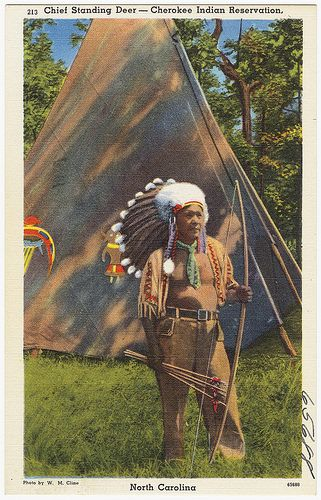 Chief Standing Deer - Cherokee Indian Reservation, North Carolina   by Boston Public Library