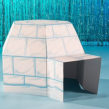 Bring the winter fun indoors with this Arctic Playground 3D Igloo. This cardboard Arctic Playground Igloo measures 3 feet 4 inches high.