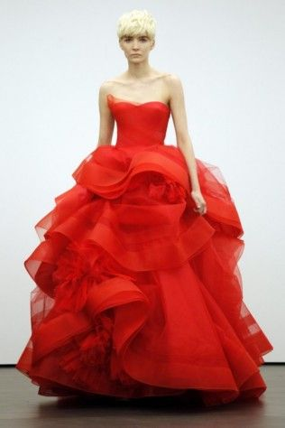 Colourful bridal gowns