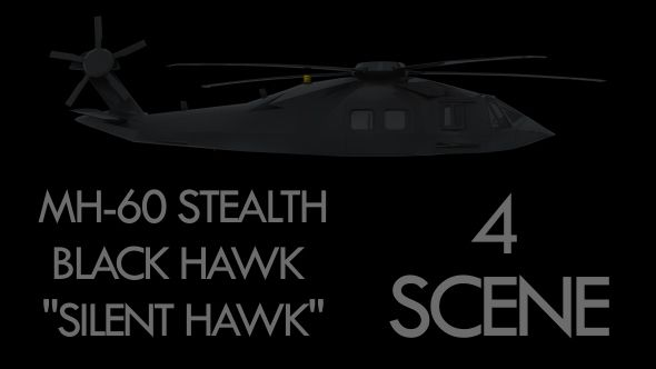 "Military Helicopter Stealth Black Hawk - ""Silent Hawk"" - Pack"