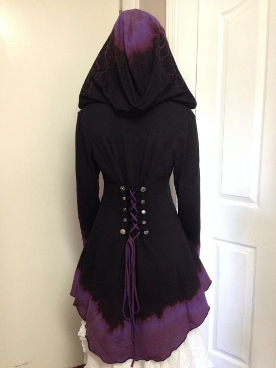 Corset laced hoodie contrast hood lined Faye by FayeTalityCouture