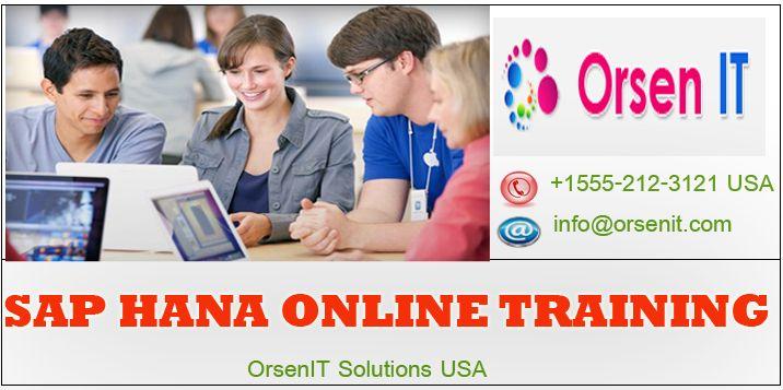 sap hana online training in usa,hana training