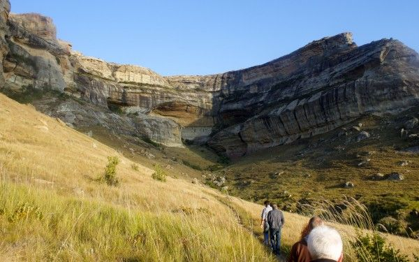 Hiking in Golden Gate National Park, S. Africa