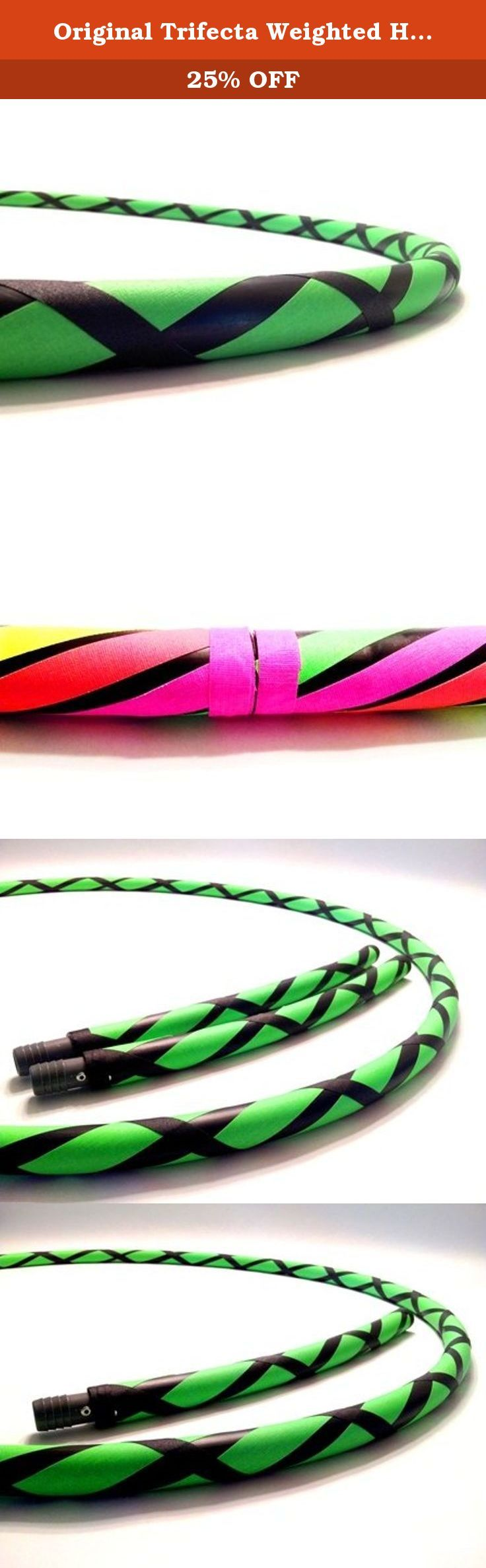 "Original Trifecta Weighted Hula Hoop (Lightning Sky Green)3 Hoops in 1 (40"" 1 Hula Hoop). DIRECT FROM THE MANUFACTURER. Featuring the original manufacturer of the ""TRIFECTA"" the newest innovation in hula hooping. Paradise Hoops is formally the manufacturer for about 90% of Hoopnotica's handmade hula hoops. We have the BEST QUALITY BEST PRICE. This ""TRIFECTA"" hula hoop was created by Janou Lightning former team leader of Hoopnotica. She took her expertise in the hooping industry and made a..."