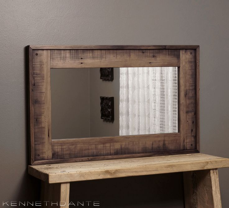 22 X 36 Mirror Part - 44: Barn Wood Mirror Decorative Rustic Reclaimed Salvage Weathered Medium Brown  Farmhouse 36 X 22 By KennethDante On Etsy