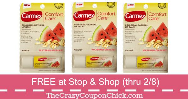 Score Up to 3 FREE Carmex Comfort Care Lip Balm at Stop & Shop (thru 2/8)