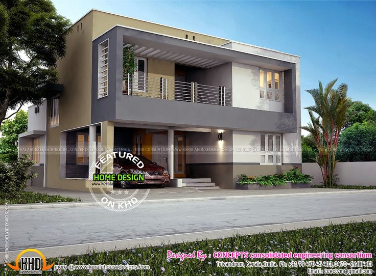 Modern Flat Roof Home Plans Wiring Diagram Site