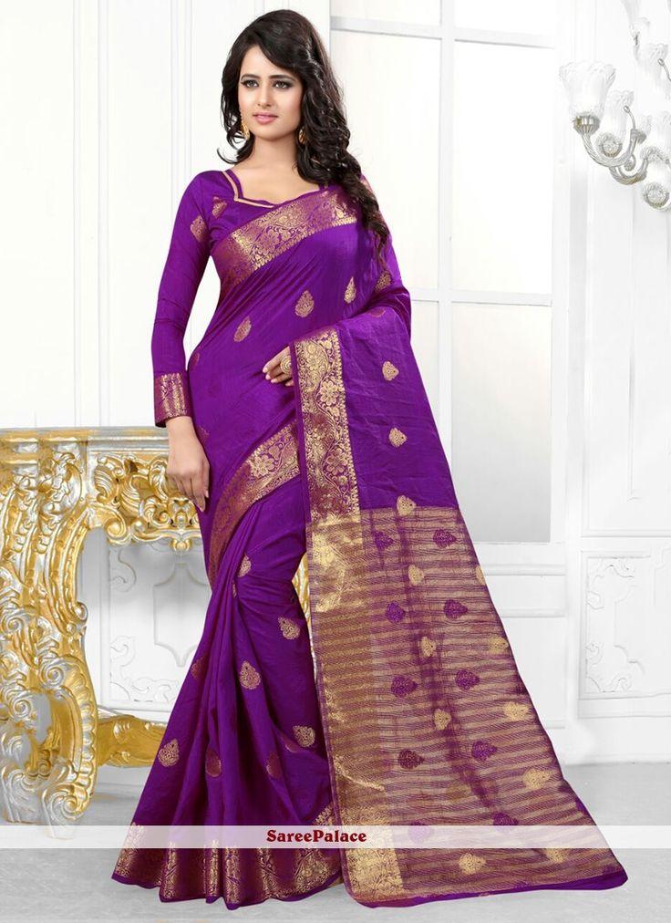 Patch Border Banarasi Silk Designer Saree in Wine