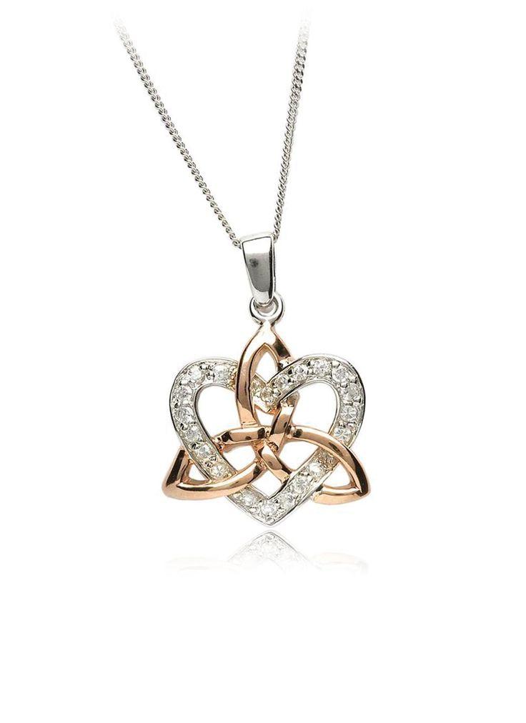 Celtic Trinity Knot Sterling Silver Stud Earrings With 9ct Gold Trinity Knot Centre - Stunning Irish Jewellery TOjZdzYy0z