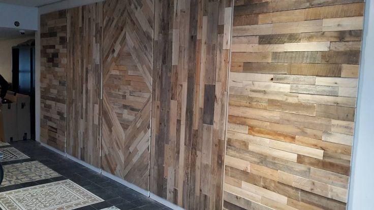Afbeeldingsresultaat voor steigerhouten muur maken