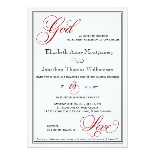 254 best christian wedding invitations images on pinterest, Wedding invitations