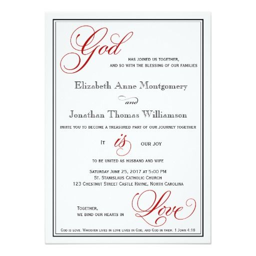 1000 images about christian wedding invitations on pinterest for Samples of christian wedding invitations