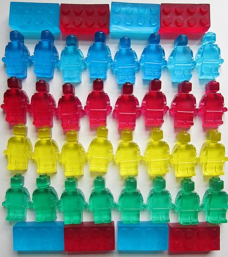 Lego Soaps Made from Ice Cube Trays | 50 Tiny And Adorable DIY Stocking Stuffers