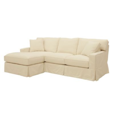 Graham 2-Piece Sectional with Left Arm Chaise and Right Arm Loveseat - Slipcover and Frame