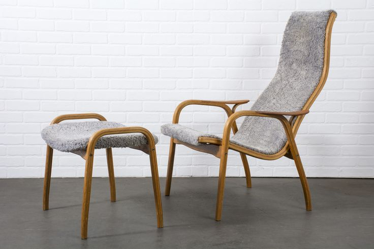 Yngve Ekström Lamino Chair and Ottoman for Swedese Mobler  $2200  MIDCENTURY MODERN FINDS