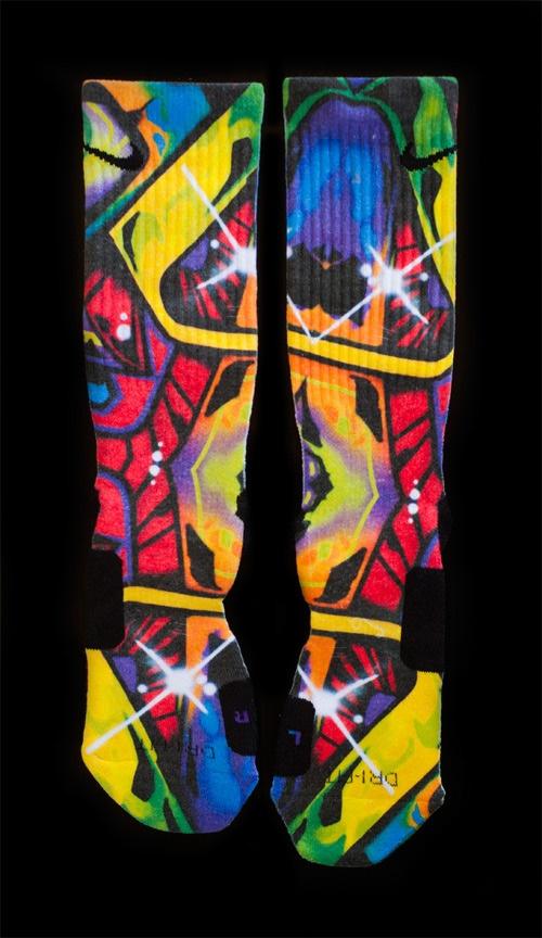 Thesockgame.com — Space Graffitis - Custom Nike Elite Socks