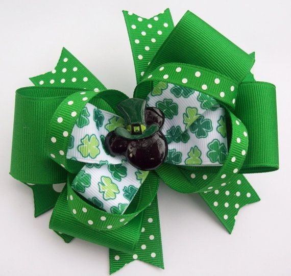 Magical Mouse St. Patrick's Day Boutique Hair Bow.