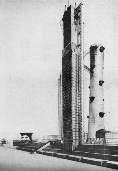 И. И. Леонидов. Конкурсный проект Дома Наркомтяжпрома на Красной площади в Москве. 1934
