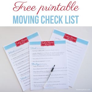 Free printable moving check list #moving #checklist #printable #free   Repinned by www.movinghelpcenter.com Follow us on Facebook! #moving