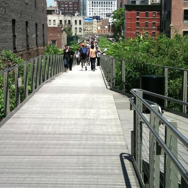Highline. Spring day,