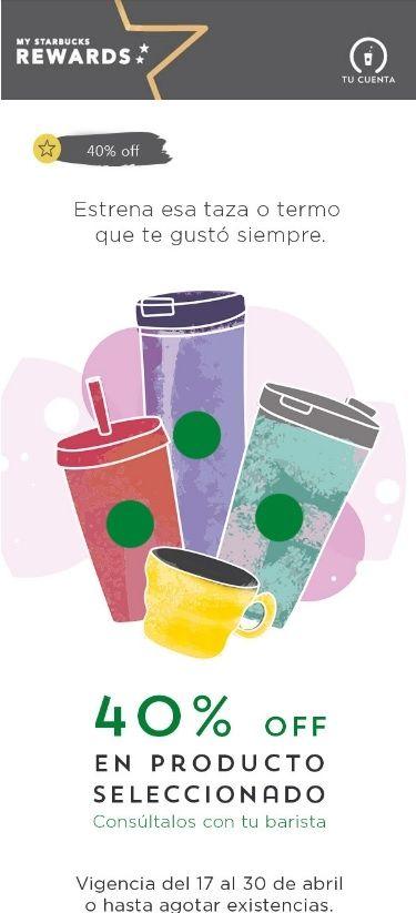 Starbucks: 40% de Descuento en Tazas, Termos, Café en Grano y Tés - promodescuentos.com