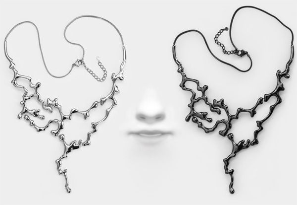 Illustrator darling James Jean is stretching his talents to the 3D realm in teh form of jewellry. . . really, really gorgeous jewelry. i want this necklace.