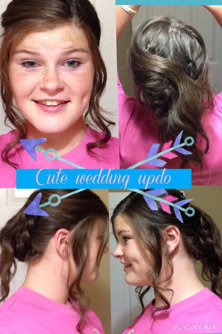 Cute and easy wedding or dance hairstyle two Dutch braids twisted and curled pined back long bangs it is easy and I absolutely love it so pretty so quick and so elegant!!!!!!!