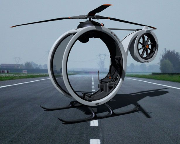 Dreaming with a day that you move from one spot to another away from traffic jam? What bout flying? This ZERO Personal Helicopter concept is a new innovativ
