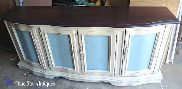 BuffetAccessories Ideas, Stars Antiques, Antiques Buffets, Antiques Re Did, Diy Furniture, Fabulous Furniture, Buffets Spectacular, Cabinets Ideas, Blue Stars