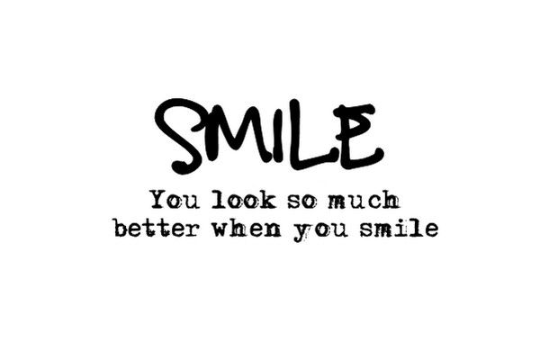 The most beautiful thing anyone can wear is a smile
