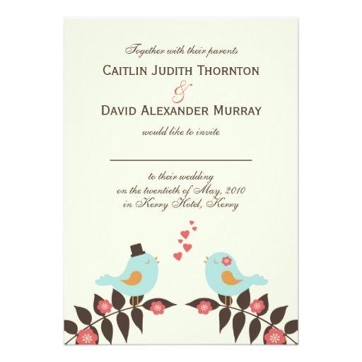 Love Birds Wedding Invitation
