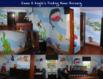 Finding Nemo Nursery Theme The Patterns For The Paintings In My Twin S Finding Nemo Nursery Theme Came From Pictures That I Printed From A Finding Nemo