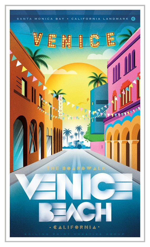 5x7 Venice Beach Greeting Card