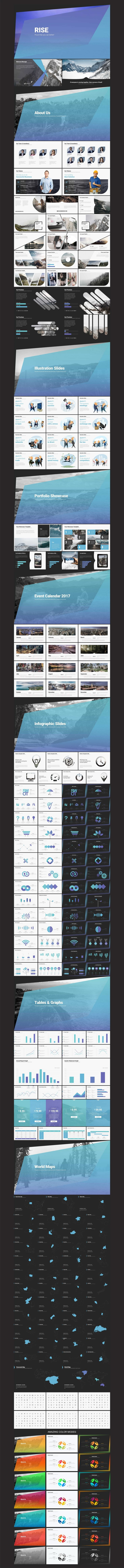 Rise Powerpoint Template by Evgeny Bagro // Inspiration for the EMRLD14 Team // www.emrld14.com