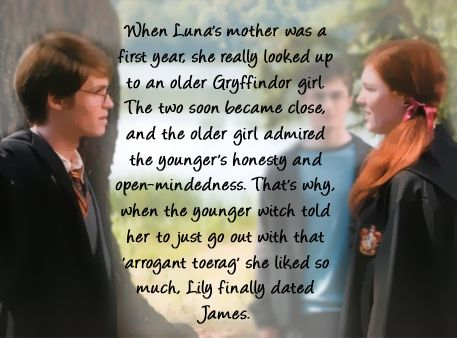 Luna's so much closer to Harry than was ever imagined.