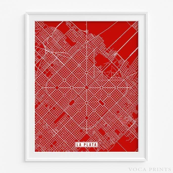Louisiana Map Alexandria%0A LA PLATA  ARGENTINA STREET MAP PRINT