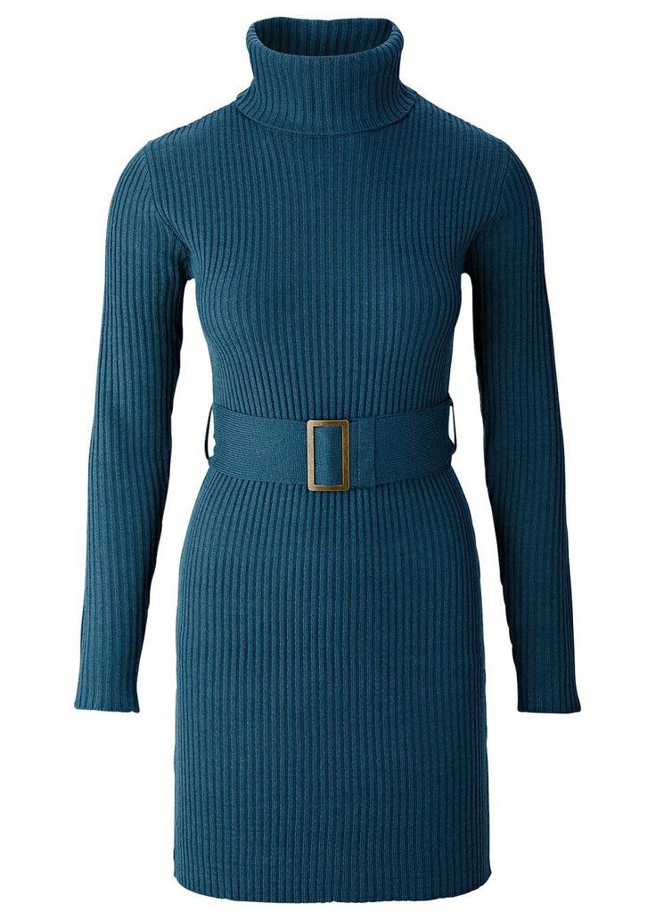 Kötött ruha Nőies ruha garbó nyakrésszel • 6799.0 Ft • bonprix