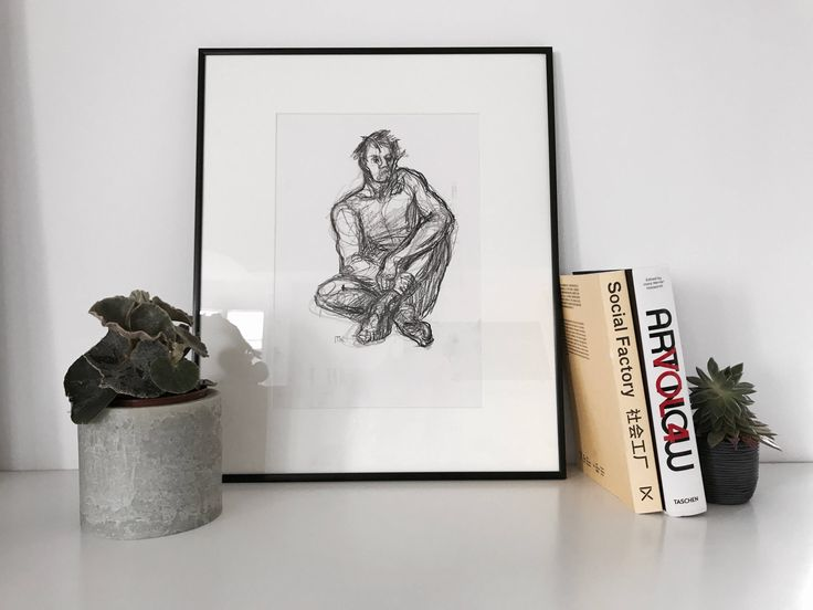 A personal favorite from my Etsy shop https://www.etsy.com/listing/546790215/nude-male-life-drawing-sitting-man-size