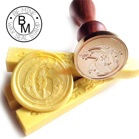 Wax Seal Stamp  Gothic Font Letter Initial Old by BeMineWaxSeal, $9.99