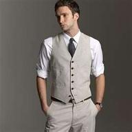 grey groomsmen attire