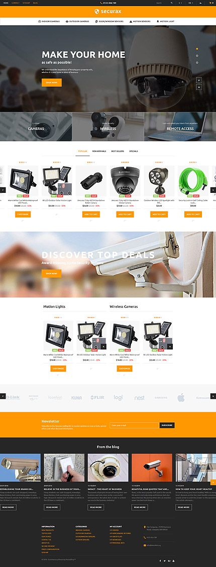 Security & Gadgets Online Store #Prestashop #template. #themes #business…
