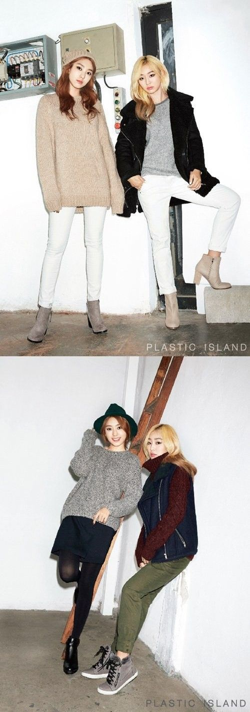 Hyorin and Bora are stylish in winter wear for 'PLASTIC ISLAND' | allkpop.com