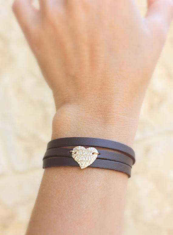 Leather Bracelets For Women Triple Wrap Soft Dark Brown Etsy Boho Bracelets Leather Diy Leather Bracelet Leather Jewelry Diy