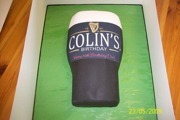 beer Birthday Cakes for Men | guinness cake mens 50th birthday cake mad about guinness
