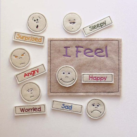 Feelings Chart Children Feelings Chart Faces by AnnsCraftHouse