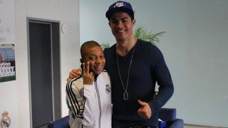 Toyin Adebayo's Blog: SEE PHOTO of a young Kylian Mbappe and Cristiano R...