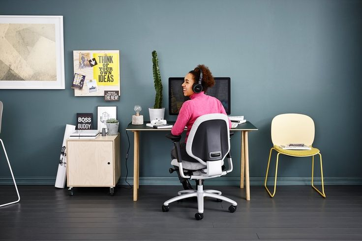 RH Mereo is also the perfect choice for your home office or studio #InspireGreatWork #Scandinavian #homeoffice #design