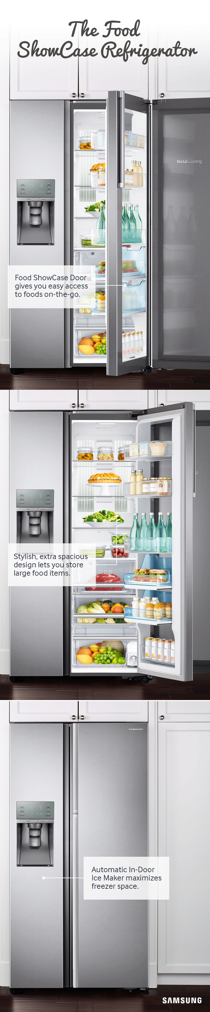 Learn how the capacity and organizational ease of Samsung's Food ShowCase Refrigerator can help you make the most of your holiday season.