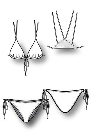 How to draw bikinis